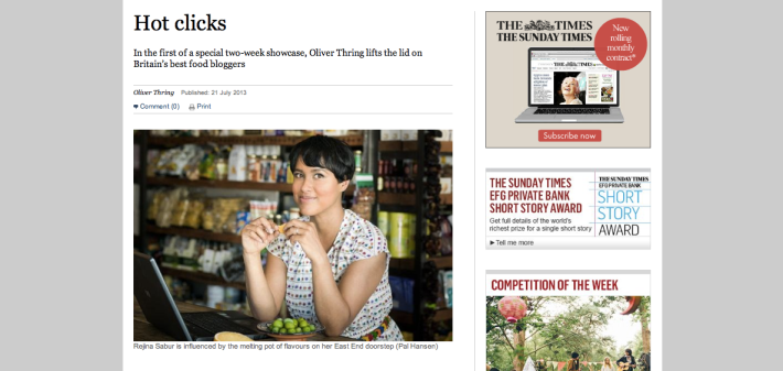 Gastrogeek Sunday Times